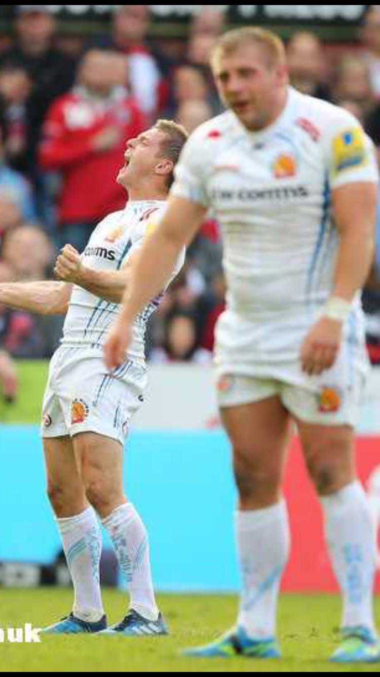 Carl Rimmer and Gareth Steenson Exeter Chiefs